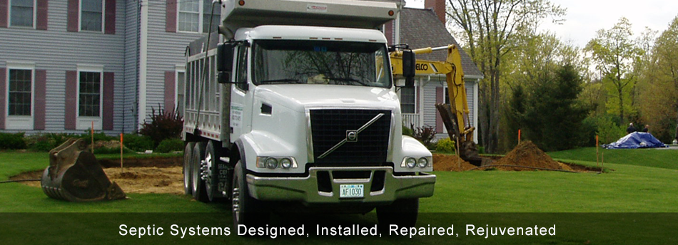 Septic Systems Designed, Installed, Repaired, Rejuvenated